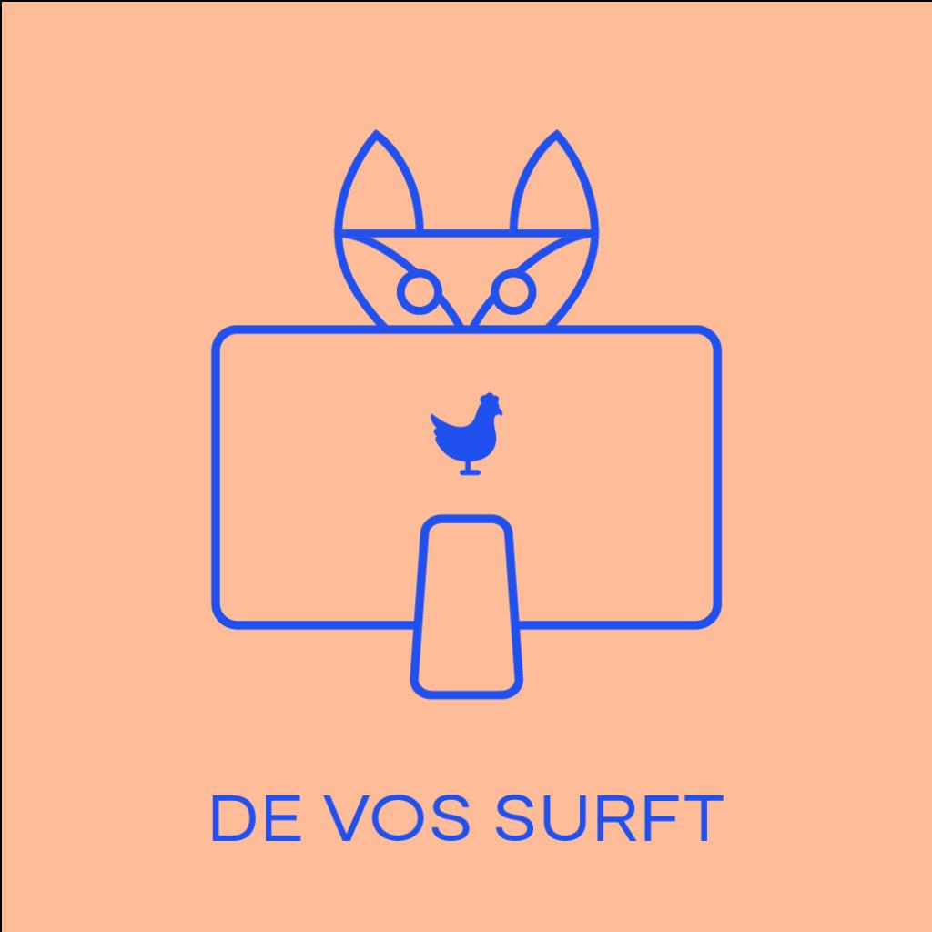 De vos surft Artboard 135
