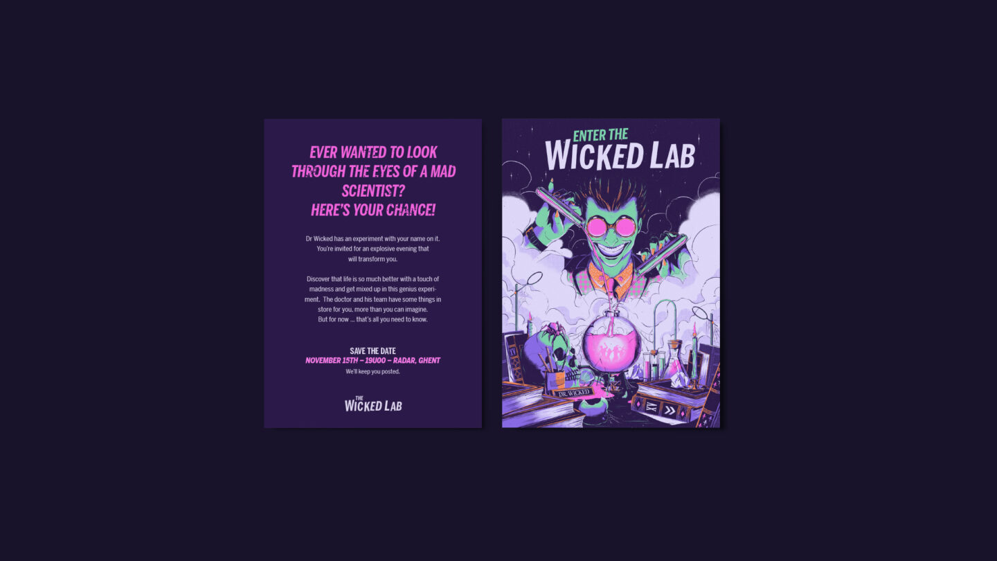 Mockup Wicked lab Save the date